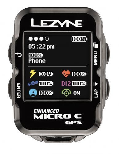 Cyklocomputer LEZYNE Micro COLOR GPS HRSC - hr. pás a snímače