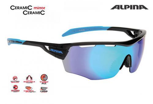 54b0ea5a8 Cyklistické okuliare Alpina TRI-SCRAY SHIELD čierno-cyan » maraton.bike