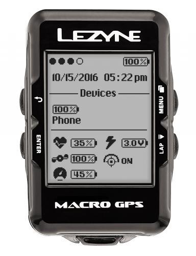 Cyklocomputer LEZYNE Macro GPS HR - s hrudným pásom