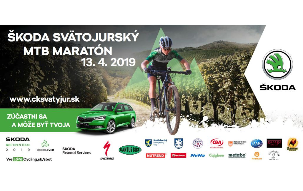be5a3b599b342 POZVÁNKA: ŠKODA Svätojurský MTB maratón 2019 » maraton.bike
