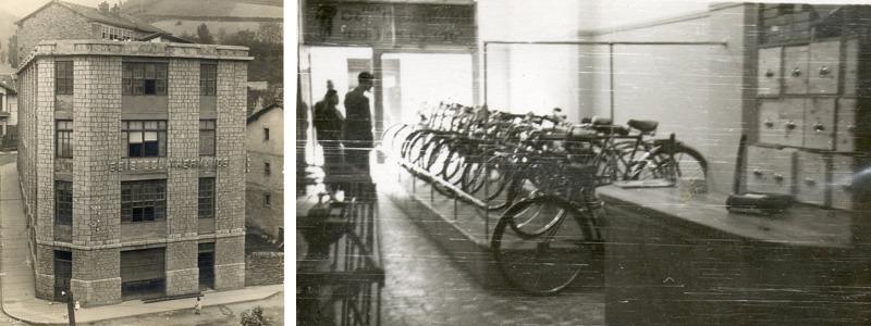 Vľavo: fabrika v Eibare (1926) , Vpravo: predajňa (1929)